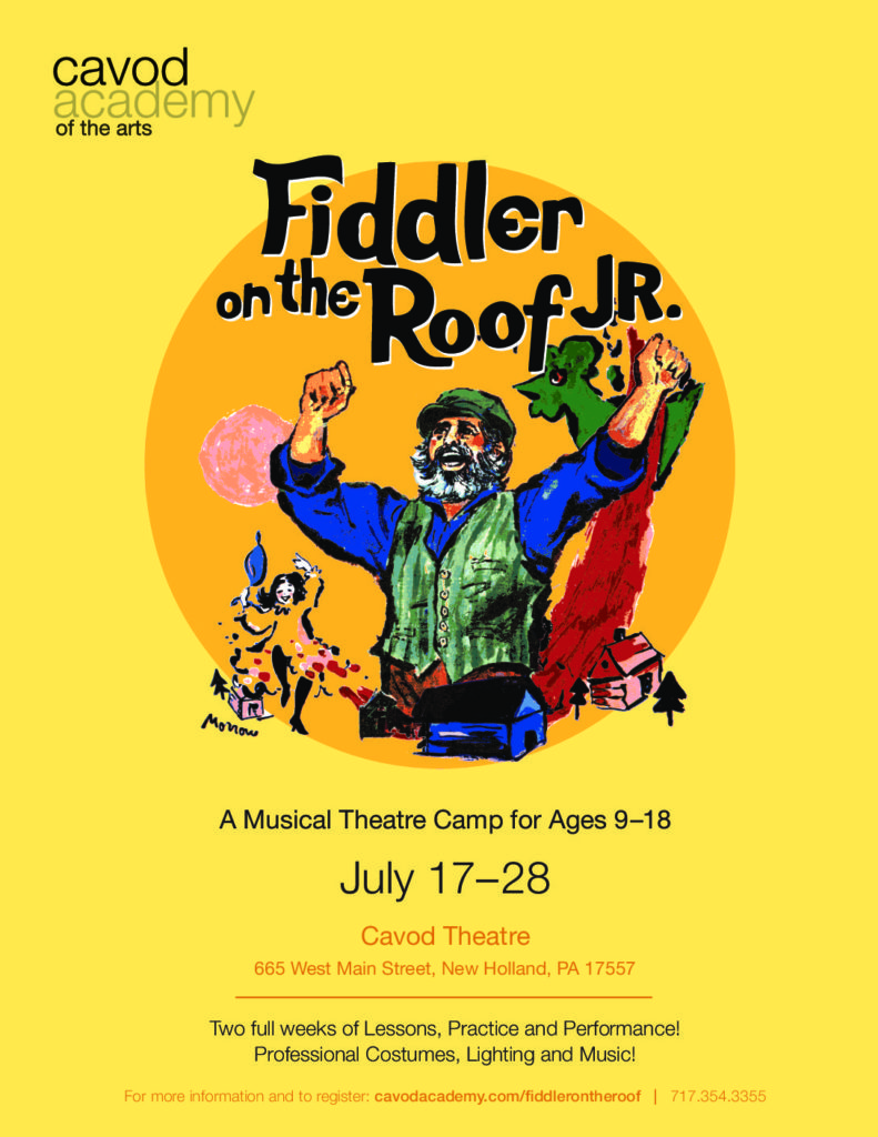 Fiddler On The Roof Jr Musical Theatre Camp Cavod Academy