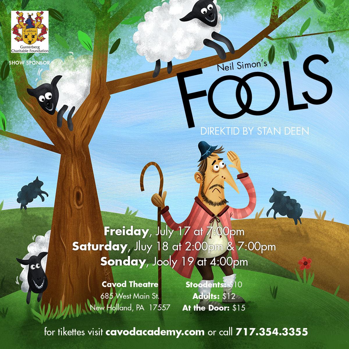 Fools Playbill - 1200x1200