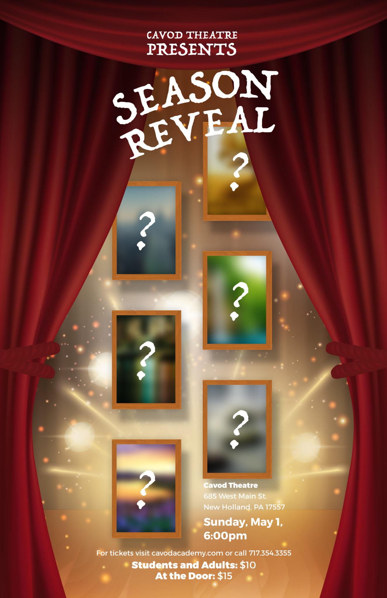 Cavod Theatre 2016/2017 Season Reveal Poster