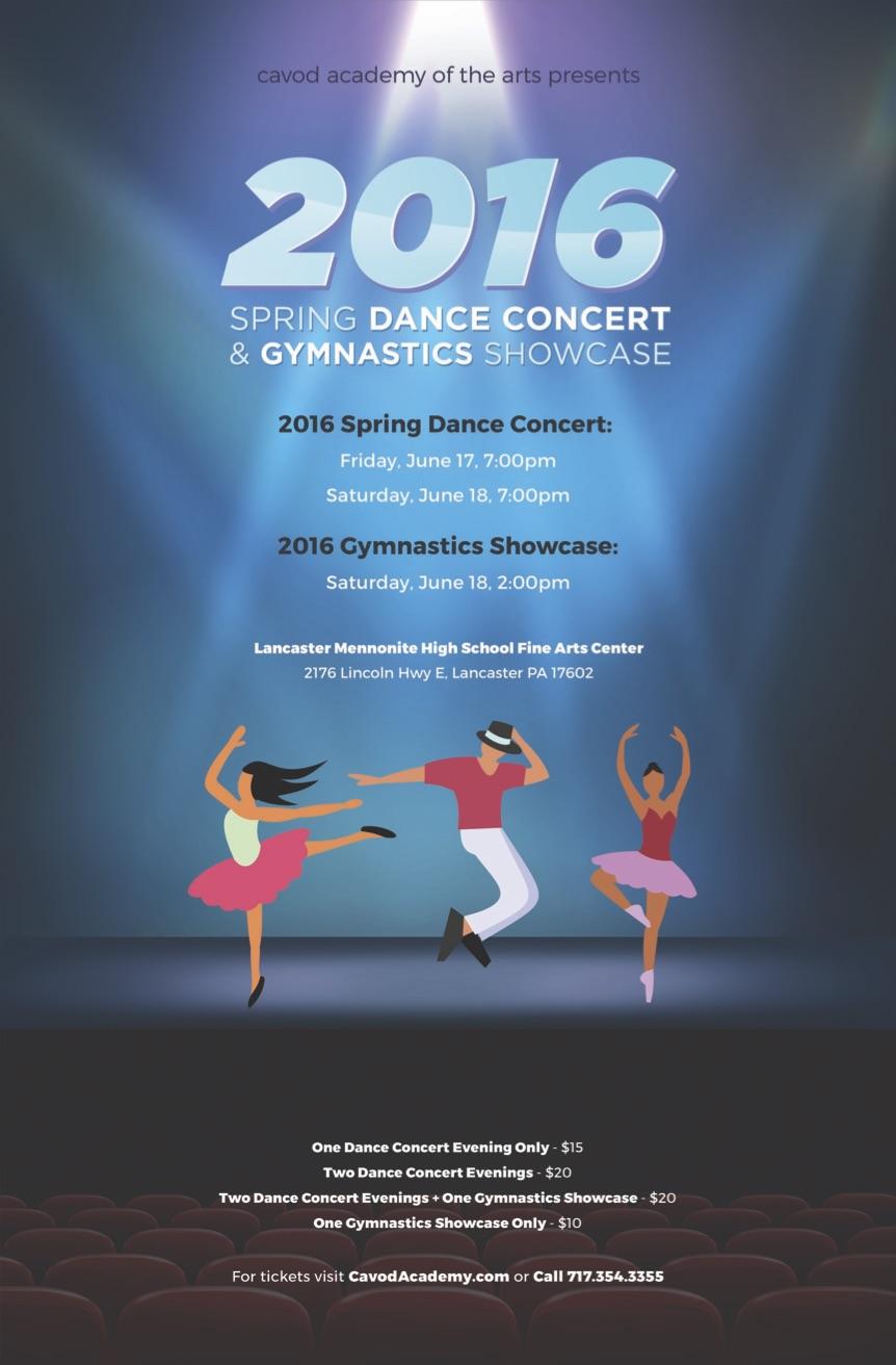 2016 Spring Dance Concert Poster Image