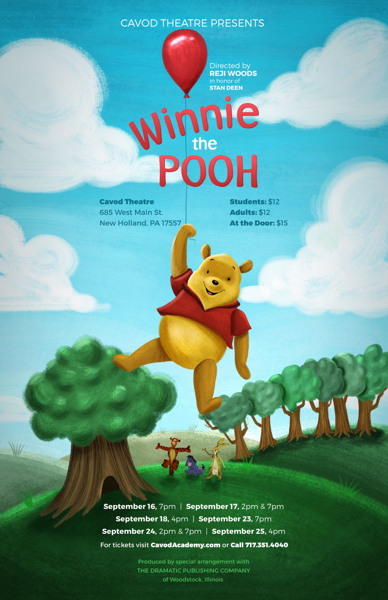 Winnie the pooh poster Cavod theatre productions