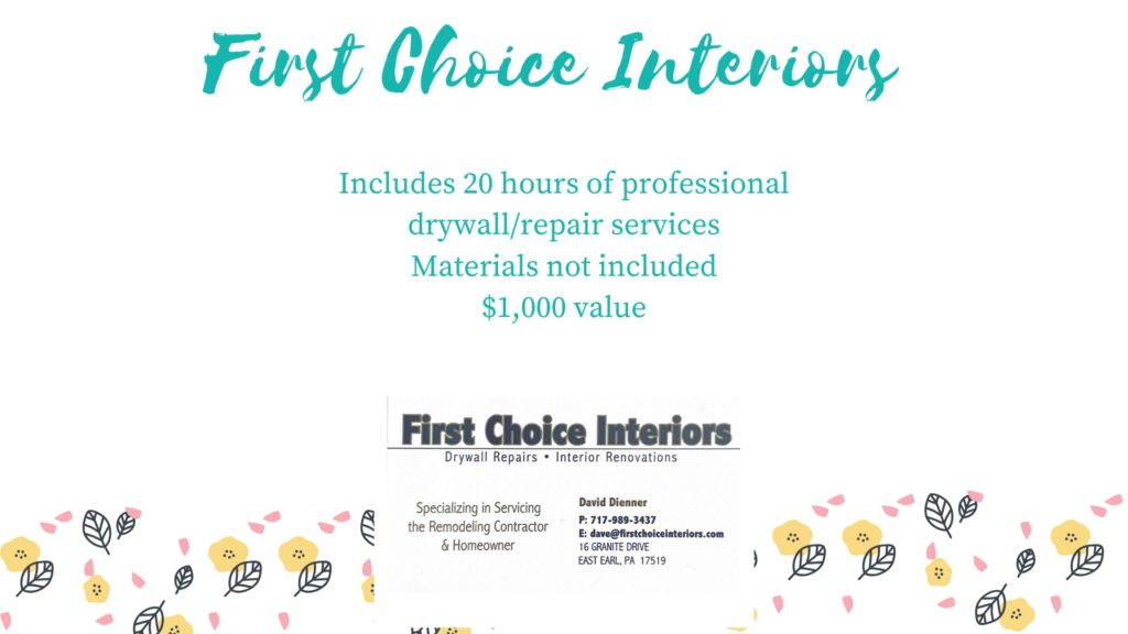 First Choice Interiors Drywall Repair Package