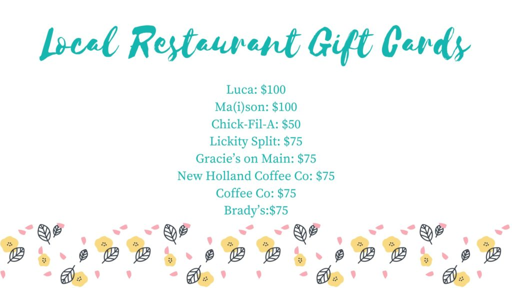 Local Restaurant Gift Card Package
